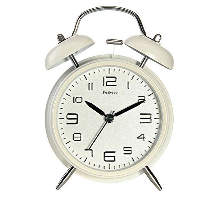 Best Guest Room Essentials - Peakeep Twin Bell Alarm Clock