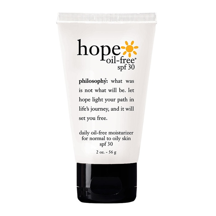 Best Daily Use Face Suncreens - Philosophy Hope Oil-Free Moisturizer SPF 30