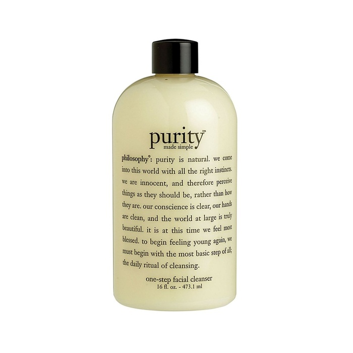 Best Face Cleansers for Sensitive Skin - Philosophy Purity Made Simple One-Step Facial Cleanser