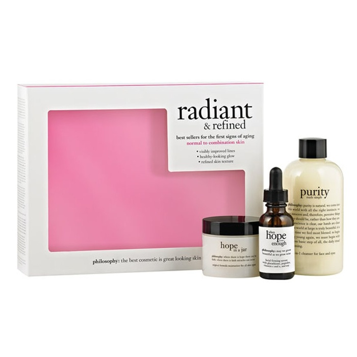 Best Skincare Gift Sets - philosophy radiant & refined skincare set