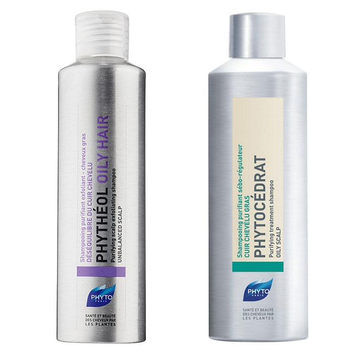 Best Shampoos for Oily hair - Phyto Phytocedrat Shampoo & Phythéol Exfoliating Shampoo