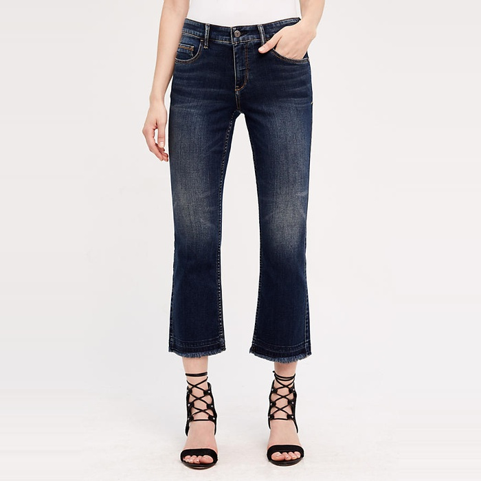 Best Spring Denim Trend 2017 - Pilcro Script High-Rise Crop Jeans