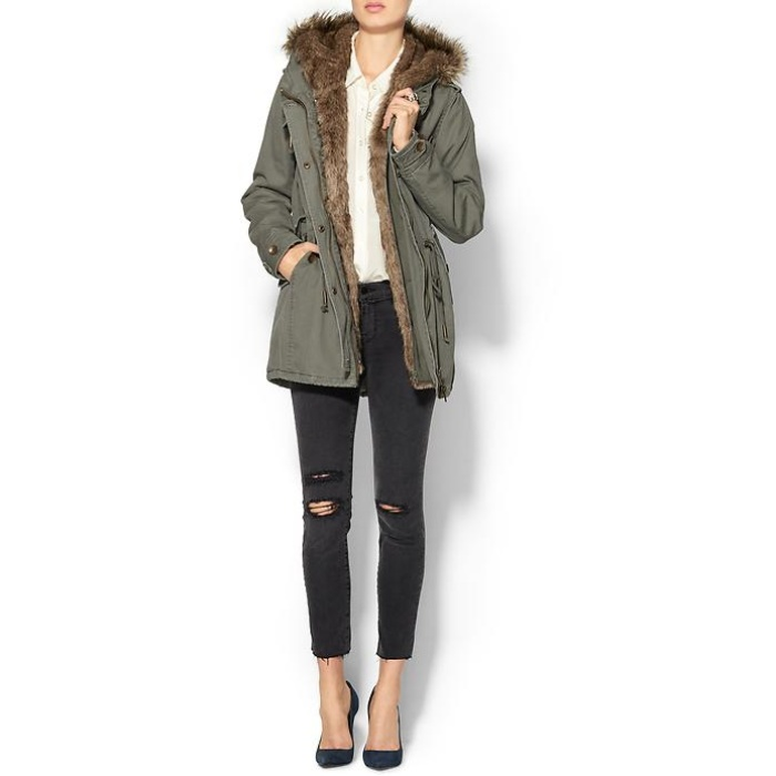 Best Parkas Under $500 - Piperlime Collection Faux Fur Anorak