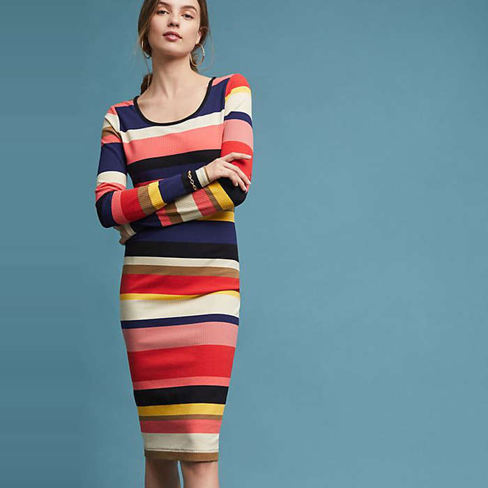 Best Rainbow Fashion Pieces - Plenty by Tracy Reese Vivid Stripe Column Dress