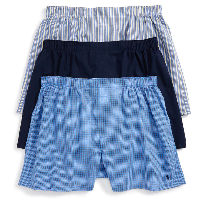 Polo Ralph Lauren 3-Pack Woven Cotton Boxers 1f2ec90914b8