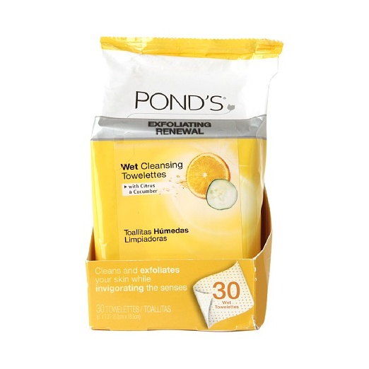 Best Facial Wipes - Ponds Exfoliating Renewal Wet Cleansing Towelettes