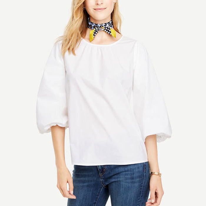 Best Must-Haves for a Timeless Wardrobe - Ann Taylor Poplin Balloon Sleeve Top