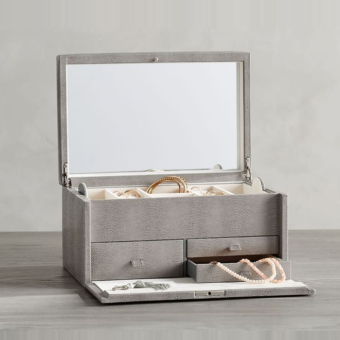 Lifestyle · Home & SONGMICS Faux Leather Jewelry Box | Rank u0026 Style Aboutintivar.Com
