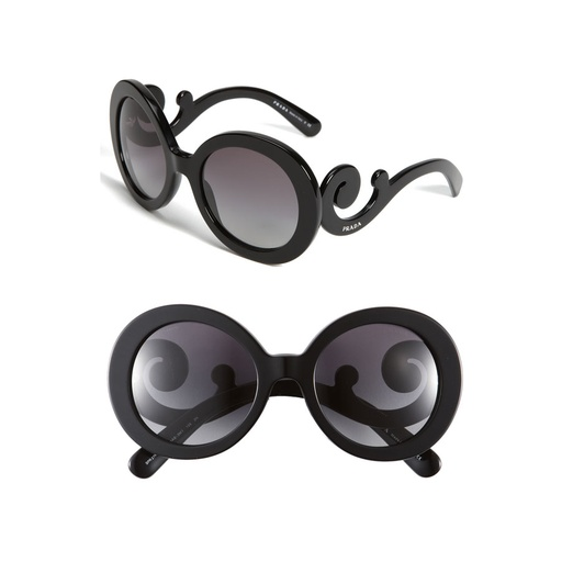 Best Sunglasses of All Shapes and Sizes for Spring - Prada Oversized Baroque Round Sunglasses