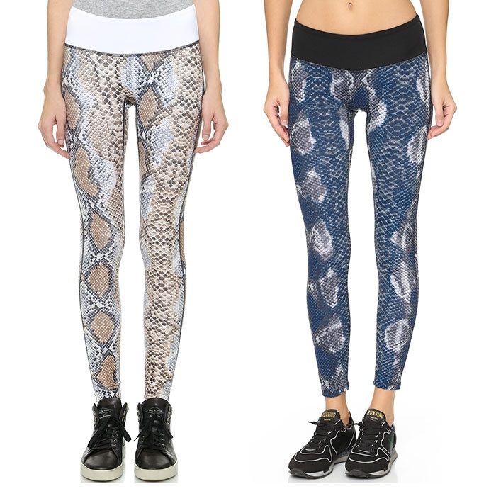 Best Printed Winter Leggings - PRISMSPORT Blue Python Leggings and Python Leggings