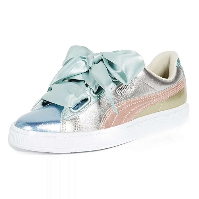 Best Fashion Sneakers - PUMA Women's Basket Heart Bauble Sneakers