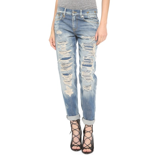 Best Ripped Boyfriend Jeans - R13 Shredded Jeans