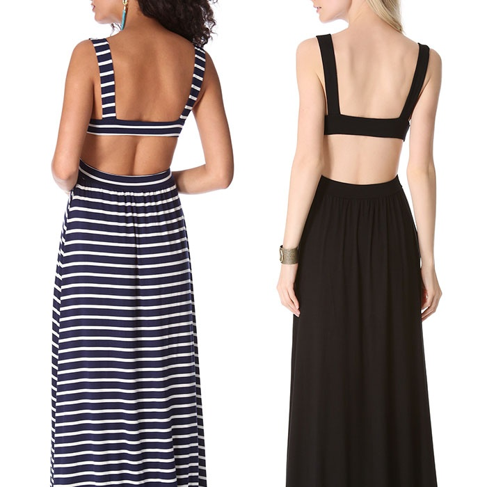 Best Backless Dresses - Rachel Pally Stripe Cutout Dress and Long Cutout Dress