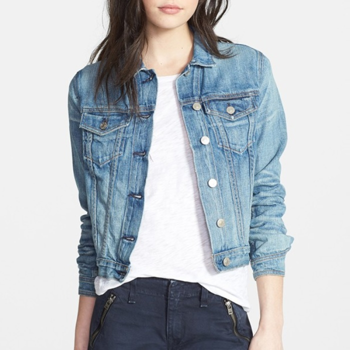 Best Denim Jackets - Rag & Bone/JEAN Crop Denim Jacket