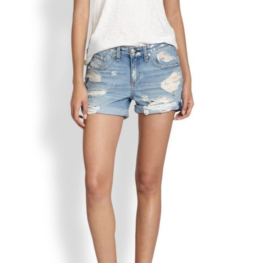 Best Memorial Day Weekend Musts - rag & bone/JEAN Distressed Rolled-Cuff Denim Shorts