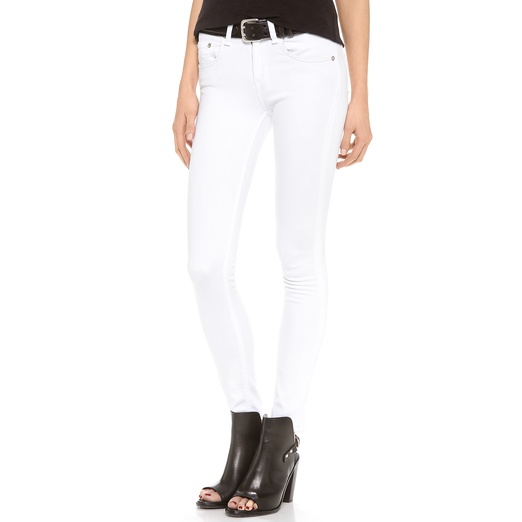 Best White Skinny Jeans - Rag & Bone/JEAN High Rise Skinny Jeans in Bright White