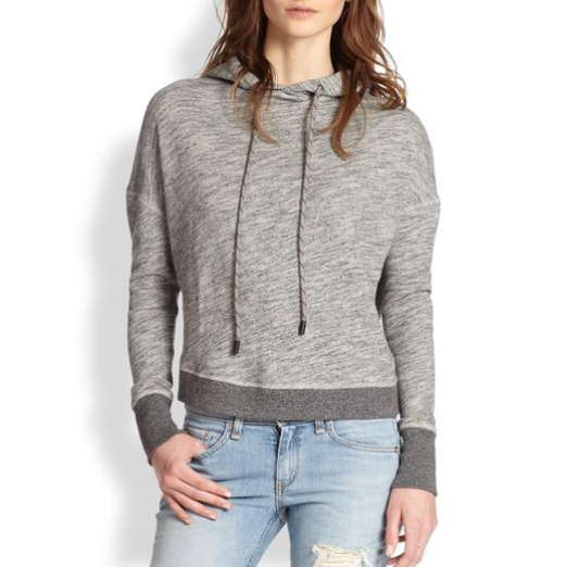 Best Stylish Hoodies - rag & bone/JEAN Murphy Crossover-Back Hooded Cotton Sweatshirt