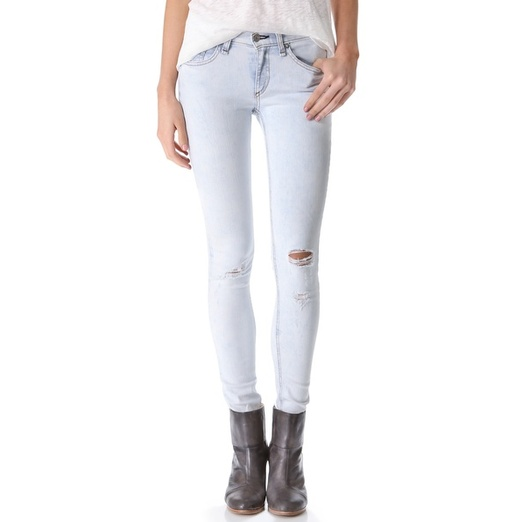 Best Light Wash Skinny Jeans - Rag & Bone/Jean Ripped Skinny Jeans