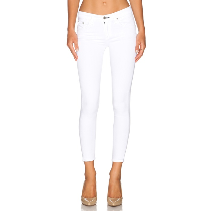 Best Your Guide To This Summer's Best White Jeans - Rag & Bone/Jean The Capri in Bright White