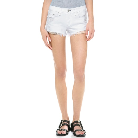 Best Summer White Bests - Rag & Bone/JEAN The Mila Shorts