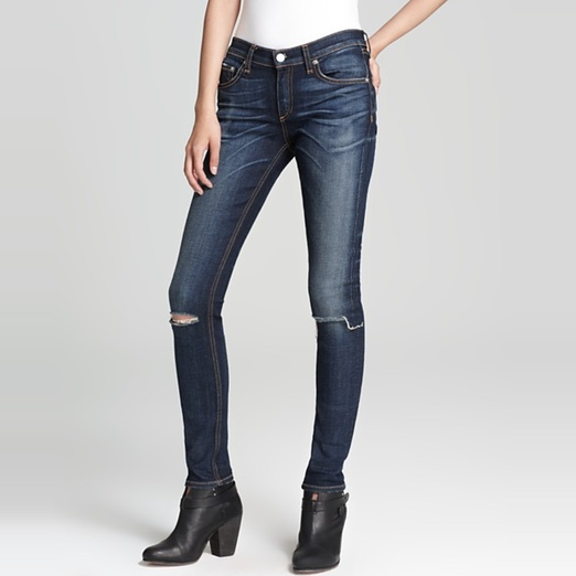 Best Ripped Jeans - Rag & Bone/Jean The Ripped Skinny Jeans