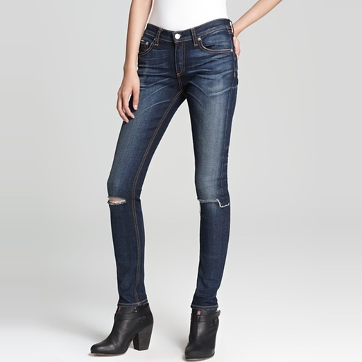 Best Distressed Jeans For Spring - Rag & Bone/Jean The Ripped Skinny Jeans