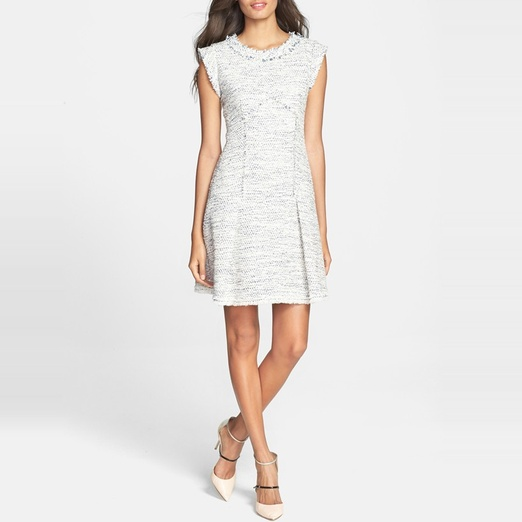 Best Work Dresses - Rebecca Taylor Tweed A-Line Dress
