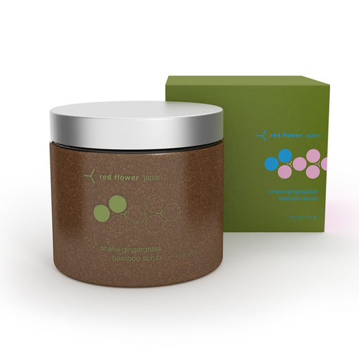 Best Body Scrubs - Red Flower Ohana Gingergrass Bamboo Scrub