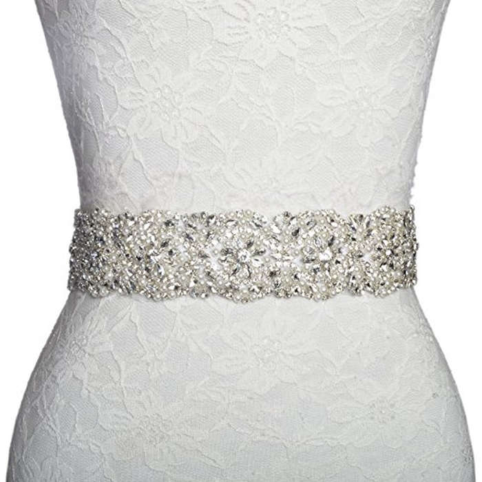 Best Bridal Belts - Redowa Beaded Wedding Dress Bridal Sash