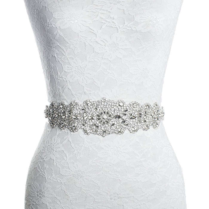 Best Bridal Belts - Redowa Rhinestone Applique Patch Bridal Sash