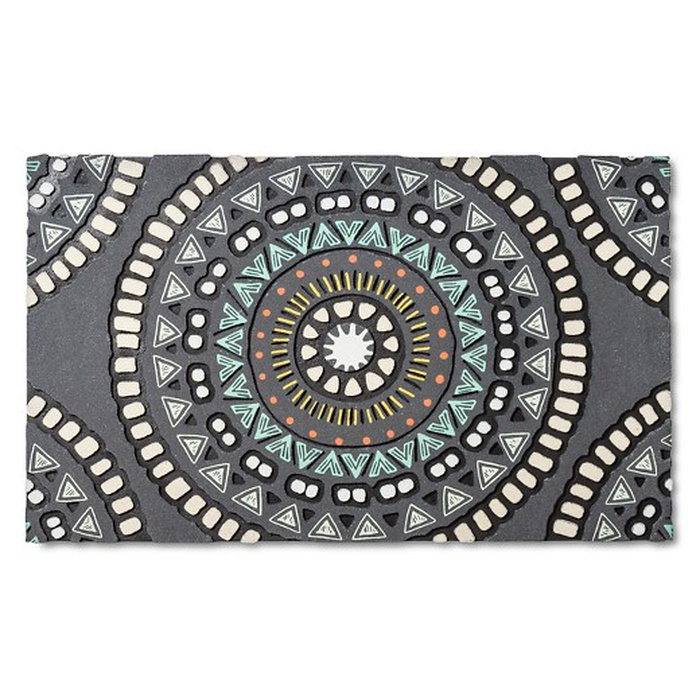 Best Doormats - Room Essentials Medallion Rubber Doormat