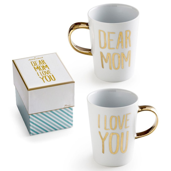 Best Mother's Day Gift Ideas - Rosanna Dear Mom I Love You Porcelain Coffee Mug