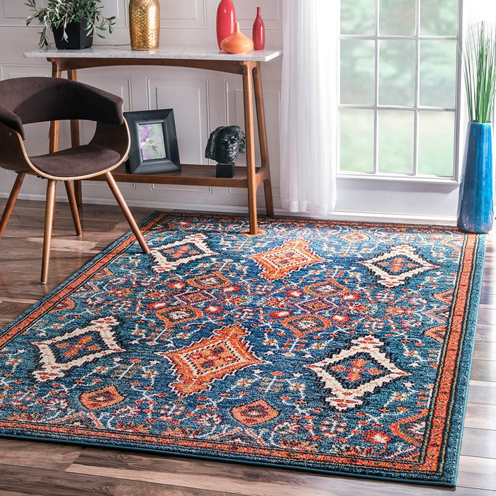 Best Area Rugs Under $300 - Rugs USA Traditional Vintage Diamond Drops Multi Area Rug