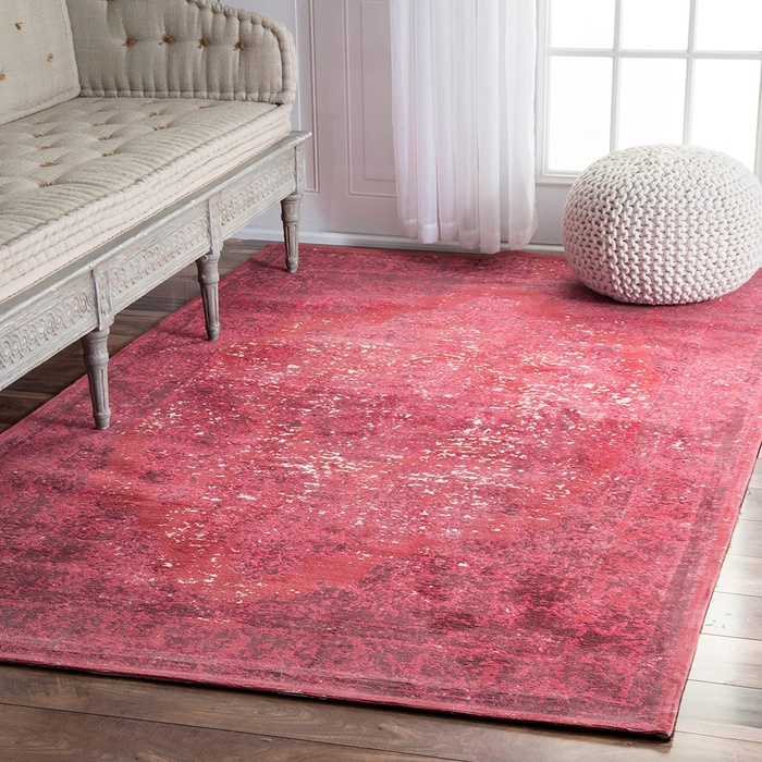 Best Area Rugs Under $300 - Rugs USA Traditional Vintage Floral Medallion Border Red Area Rug