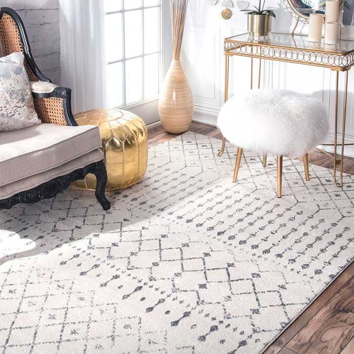 Best Area Rugs Under $300 - Rugs USA Traditional Vintage Moroccan Trellis Grey Area Rug