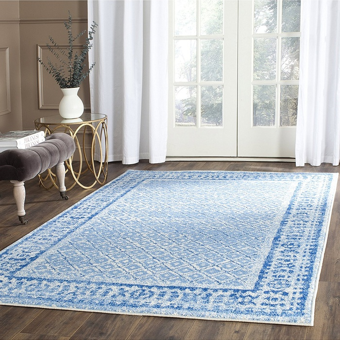 Best Area Rugs Under $300 - Safavieh Adirondack Collection Silver and Blue Vintage Area Rug