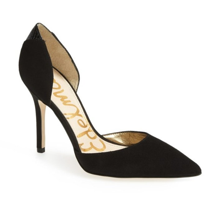 Best Black Suede Winter Pumps - Sam Edelman 'Delilah' Suede D'Orsay Pump