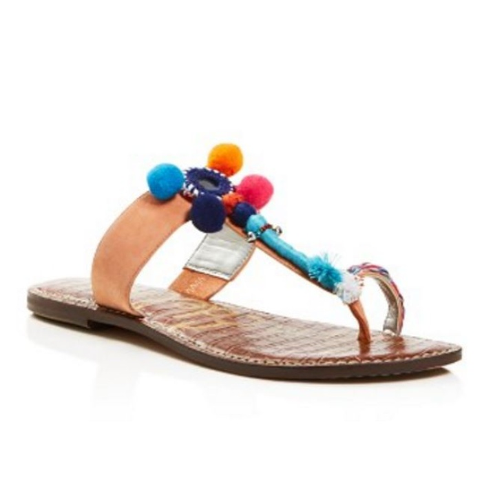 Best Pom pom Sandals - Sam Edelman Gemina Pom Pom Thong Sandals