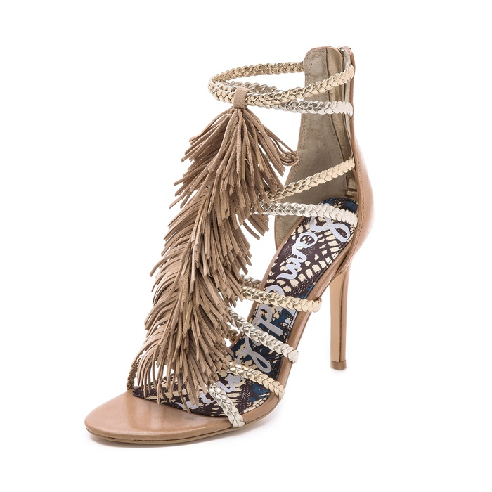Best Gladiator Sandals Under $200 - Sam Edelman Savannah Fringe Gladiator Heels