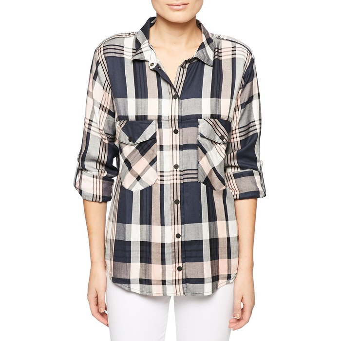 Best Boyfriend Button-Down Shirts - Sanctuary Plaid Boyfriend Shirt