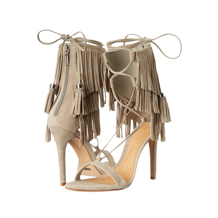 Best Summer Party Heels Under $200 - Schutz Kija Suede Fringe Sandals