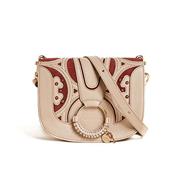 Best Embellished Handbags - See by Chloe Hana Saddle Bag