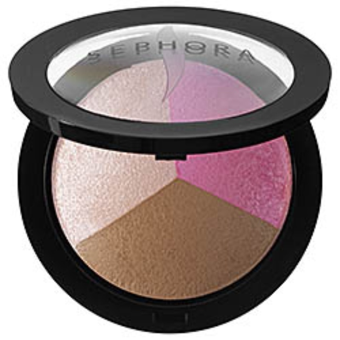 Best Bronzer, Blush, and Highlighter Palettes - Sephora Collection MicroSmooth Baked Sculpting Contour Trio