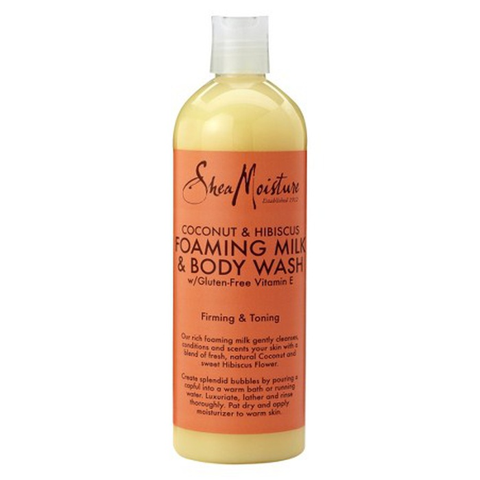 Best Natural Beauty Products - SheaMoisture Coconut & Hibiscus Foaming Milk and Body Wash