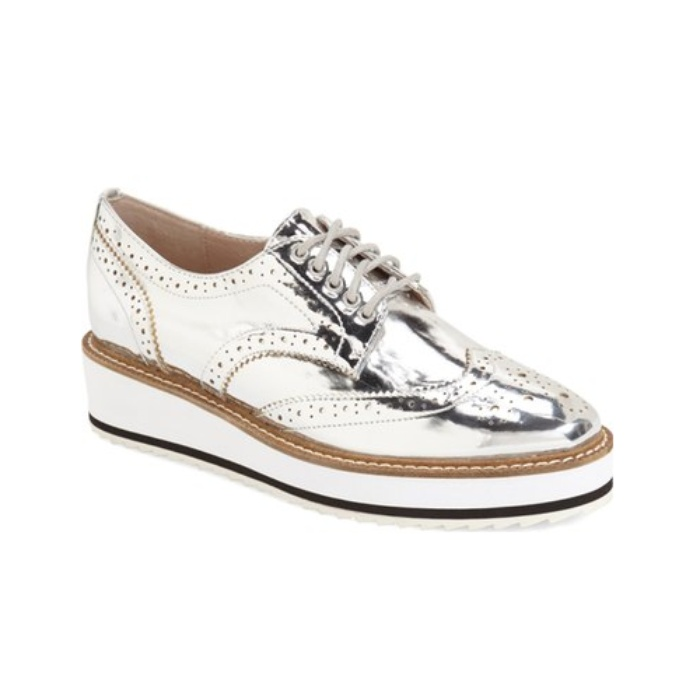 Best Metallic Shoes Under $150 - Shellys London Emma Platform Oxford