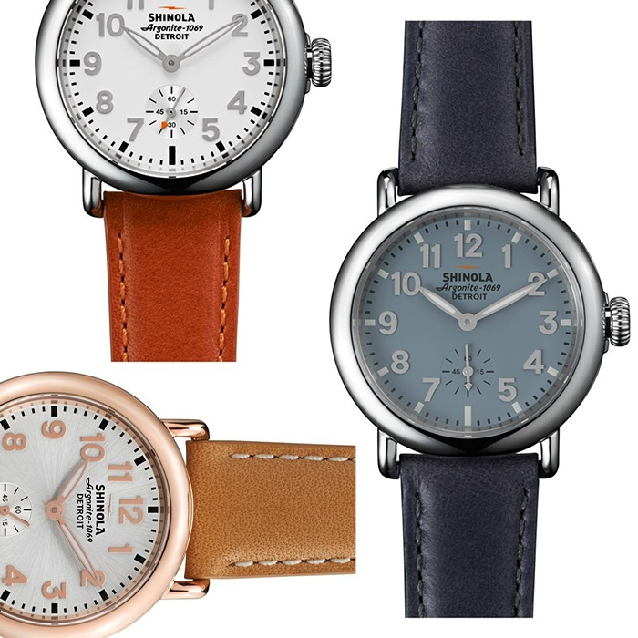 Best For the Preppy Girl - Shinola The Runwell Leather Strap Watch