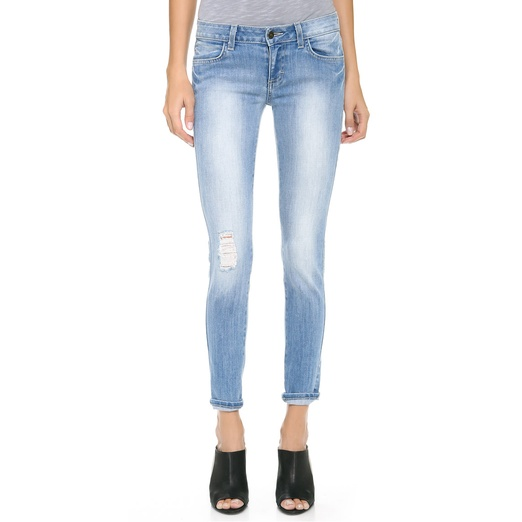 Best Light Wash Skinny Jeans - Siwy Hannah Slim Crop Jeans