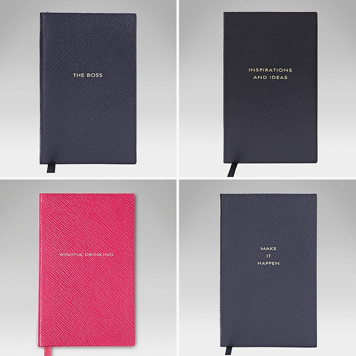 Best Monogrammed Accessories - Smythson Pocket Notebooks Collection