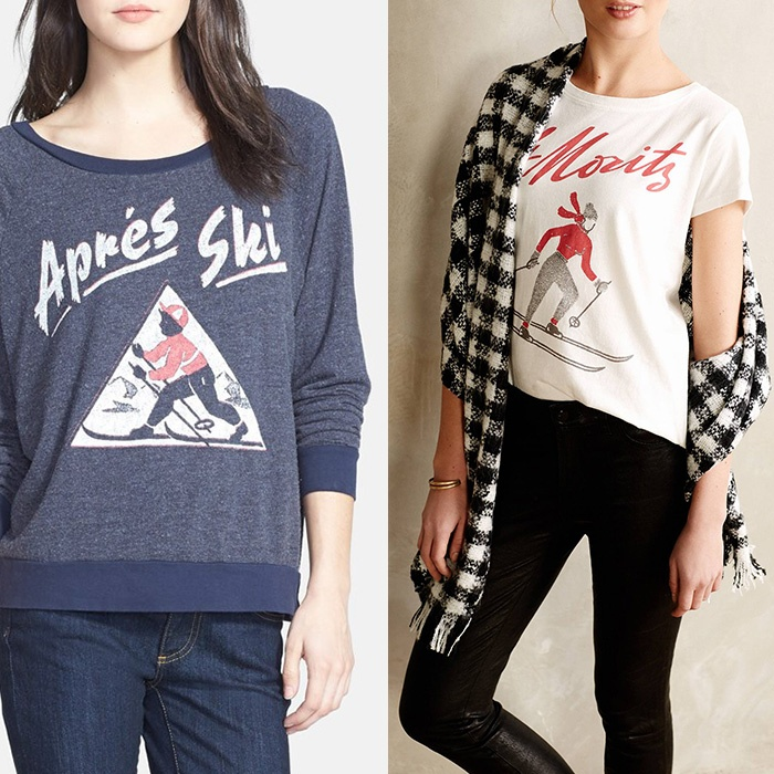 Best For the Ski Bunnies and Snow Angels - Sol Angeles Après Ski Pullover and Ski Tee