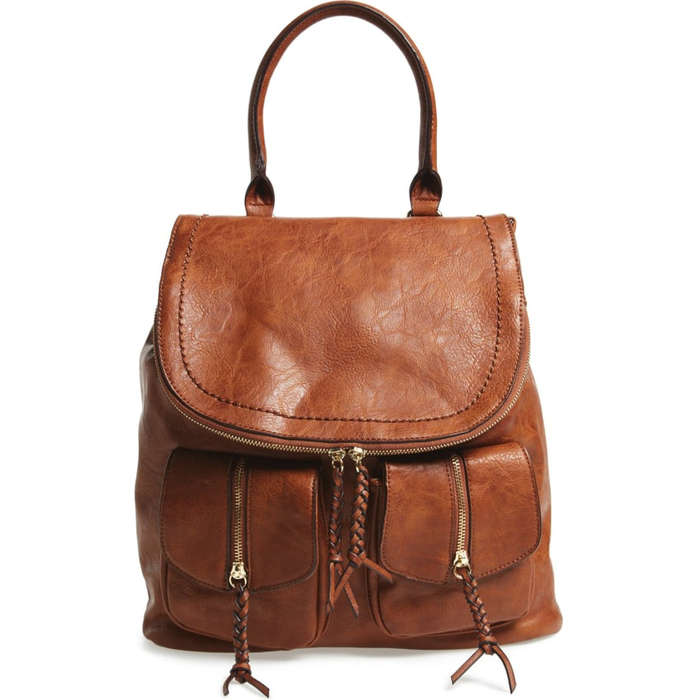 c49173279a9a9 Sole Society Emery Faux Leather Backpack